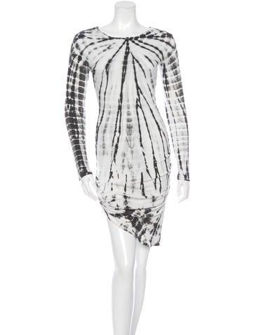 Pam & Gela Tie-Dye Long Sleeve Dress w/ Tags None
