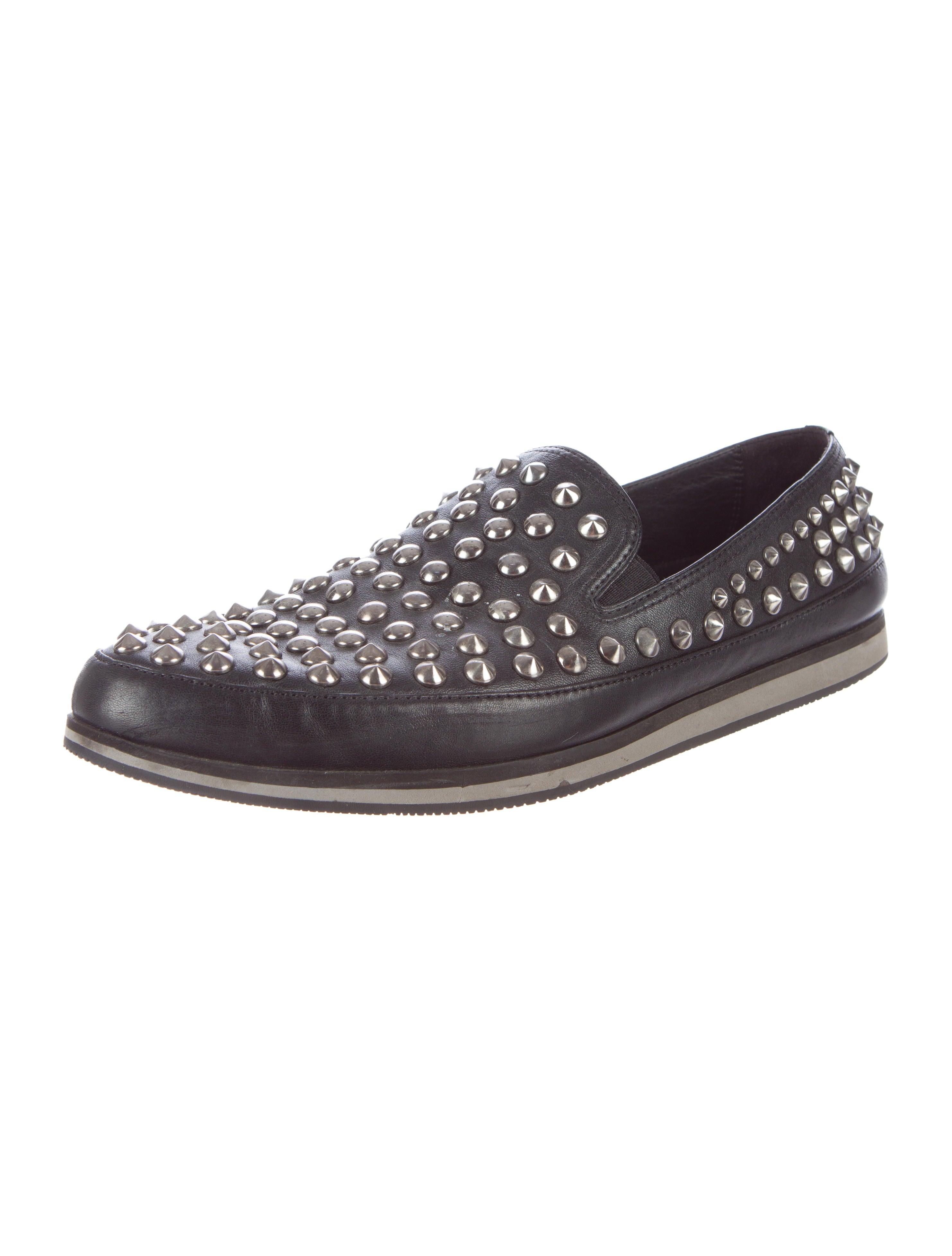 Prada Mens Studded Shoes Sale