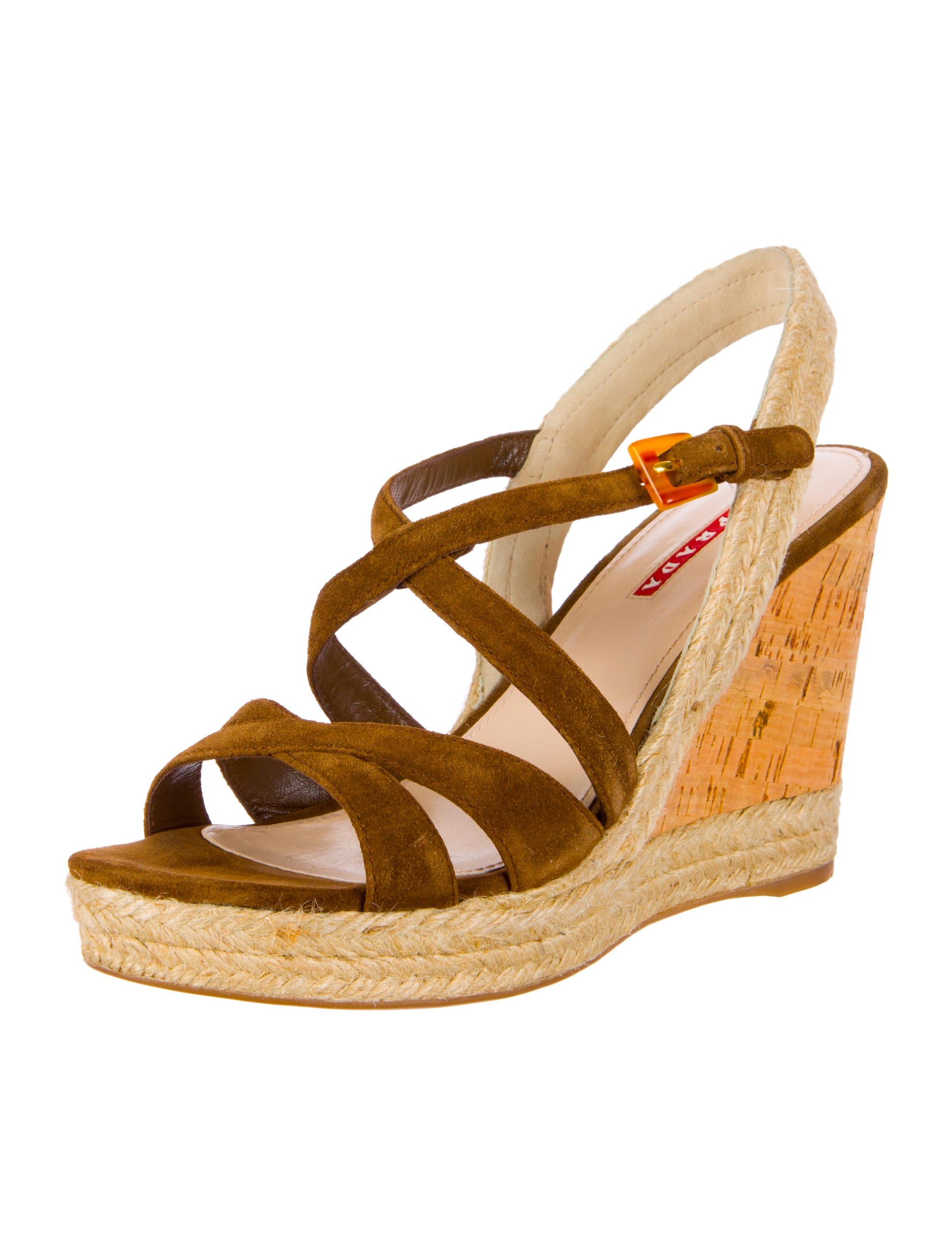 prada sport cork wedges shoes wpr30079 the realreal