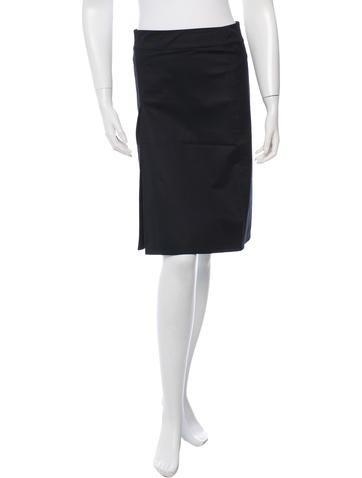 Prada Sport A-Line Knee-Length Skirt None