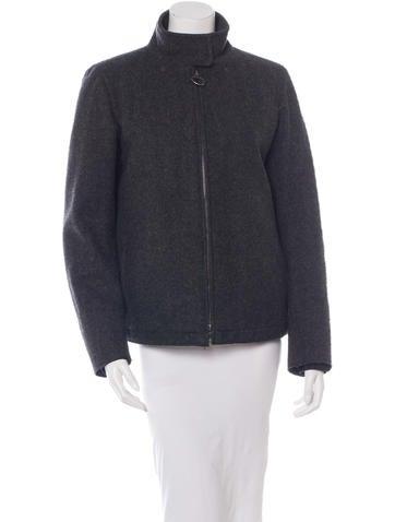 Prada Sport Virgin Wool Mock-Neck Jacket None