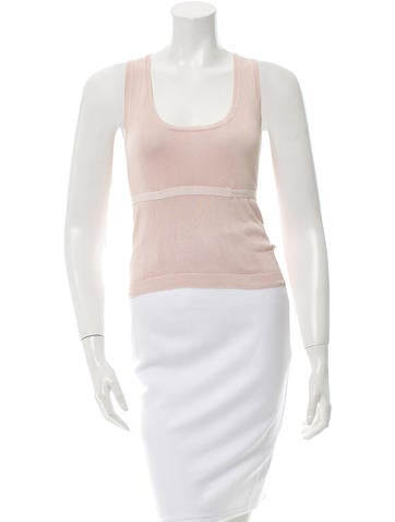 Prada Sport Sleeveless Rib Knit Top None