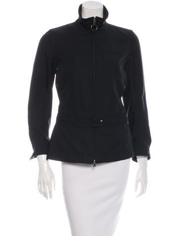 Prada Sport Funnel Neck Zip-Up Jacket None