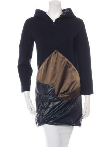 Prada Sport Wool Long Sleeve Coat None