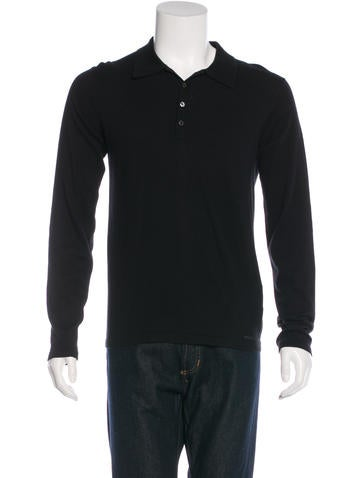 Prada Sport Embroidered Henley Sweater None