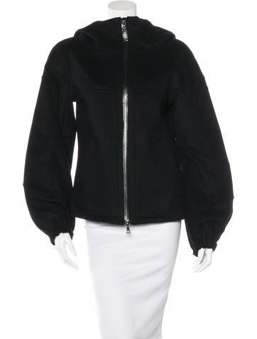 Prada Sport Wool Zip-Up Jacket None
