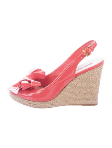 Prada Sport Bow-Accented Espadrille Wedges None