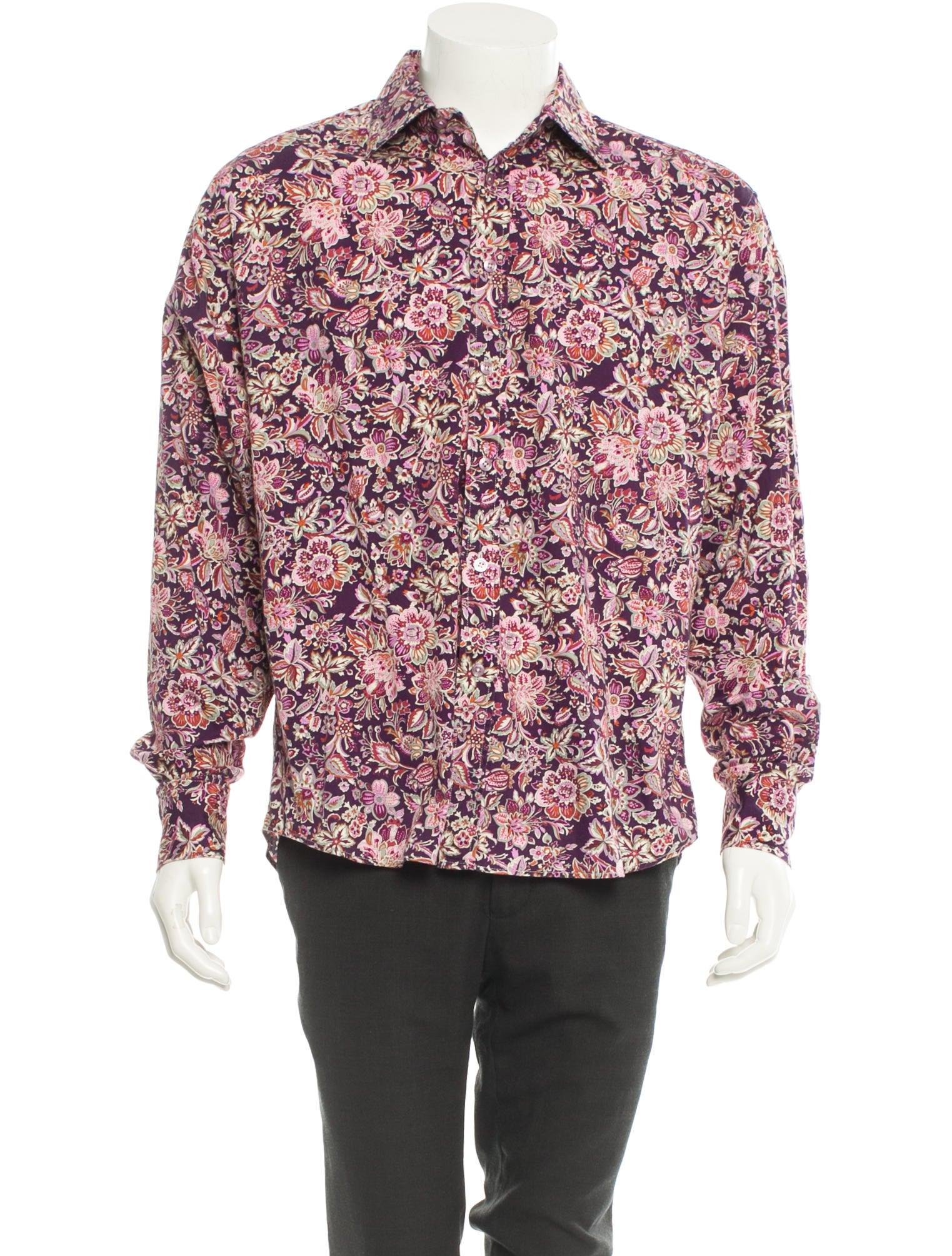 Paul smith floral print button up shirt mens shirts for Floral print button up shirt