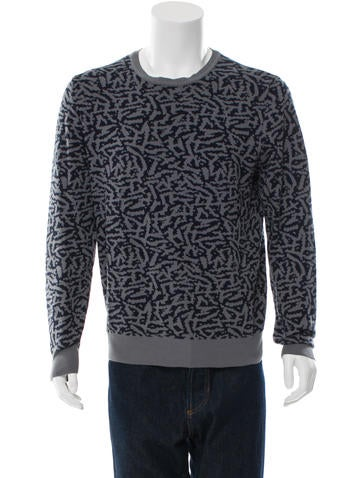 Paul Smith Patterned Crew Neck Sweater None