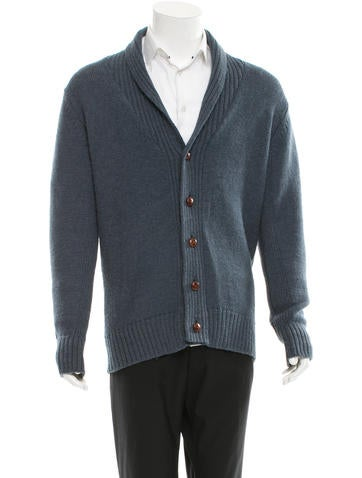 PS by Paul Smith Shawl Neck Rib Knit-Trimmed Cardigan None