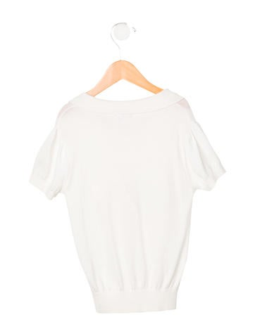 Rachel Riley Girls' Rib Knit Short Sleeve Top w/ Tags None