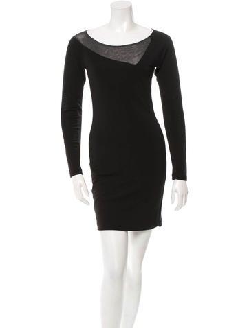 Rag & Bone Long Sleeve Rib Knit Panel Dress None