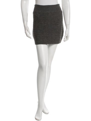 Rag & Bone Knitted Mini Skirt None