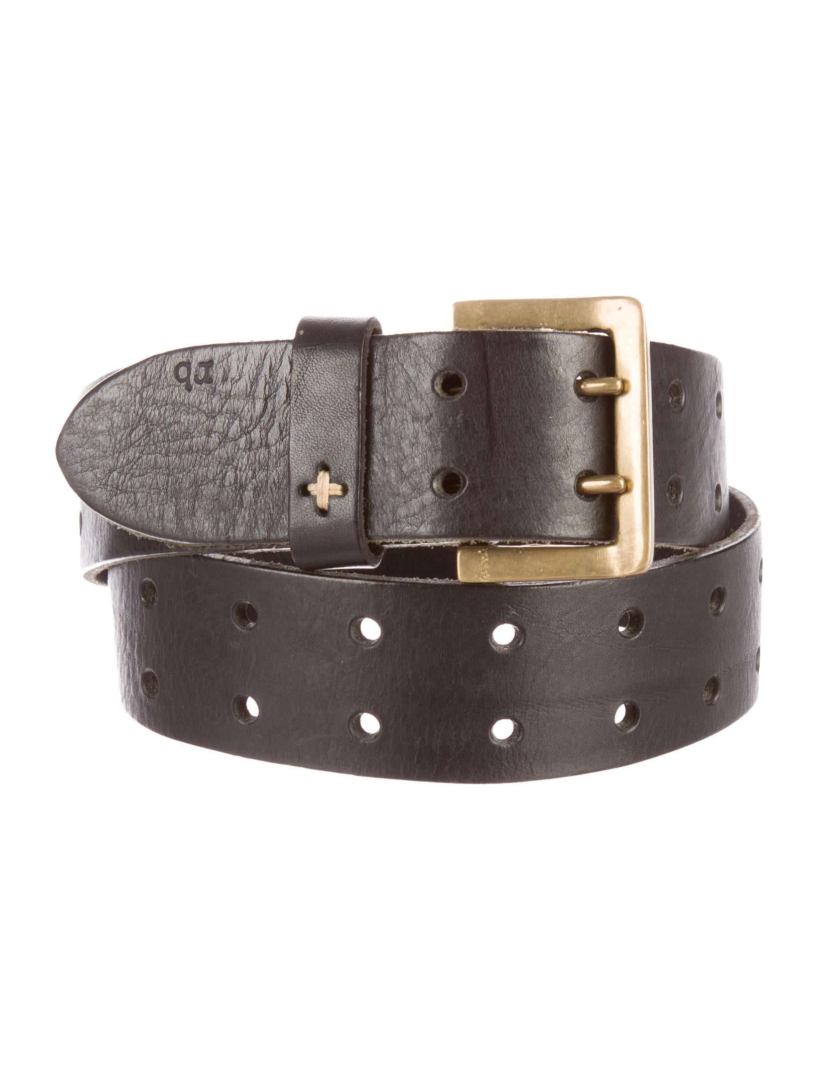 rag bone leather perforated belt accessories