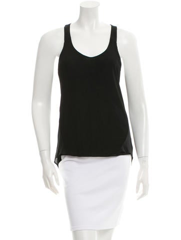 Rag & Bone Rib Knit Scoop Neck Top None