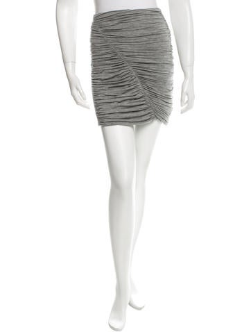 Rag & Bone Ruched Knit Skirt None