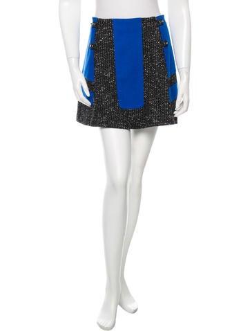 Rag & Bone Wool Flare Mini Skirt None