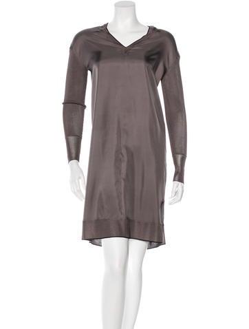Rag & Bone Silk V-Neck Dress w/ Tags None