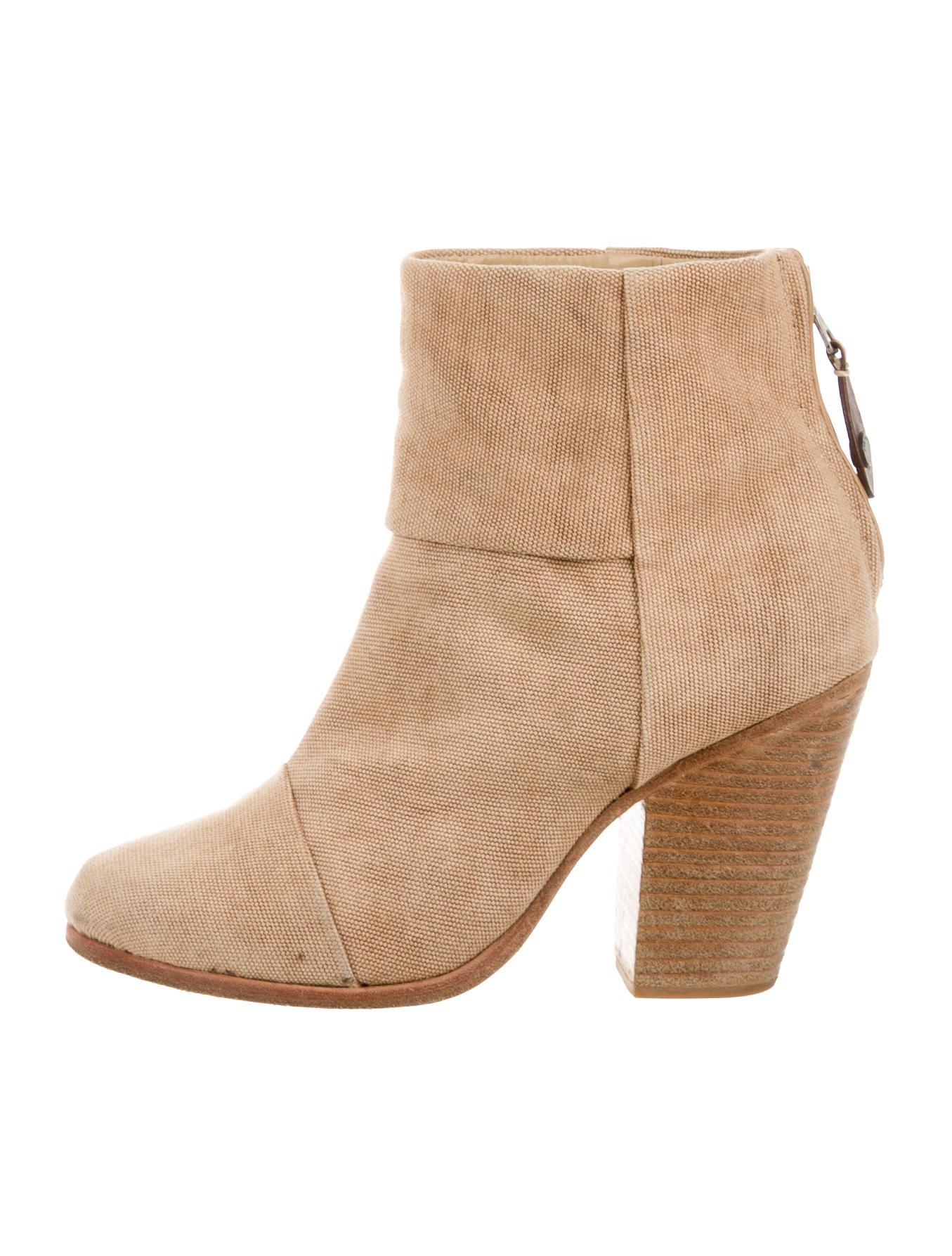 rag bone canvas newbury ankle boots shoes wragb48856