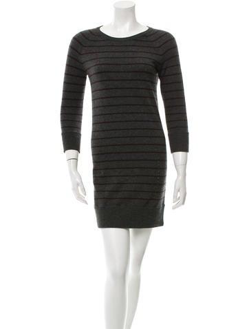 Rag & Bone Striped Cashmere Dress None