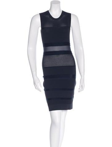 Rag & Bone Mesh-Accented Mini Dress None
