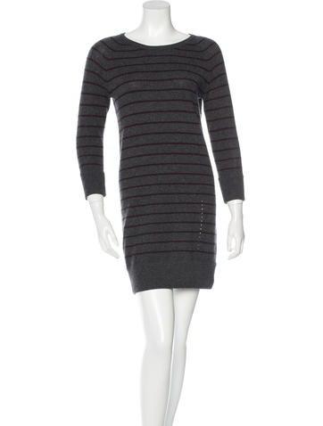 Rag & Bone Stripe Cashmere Dress None