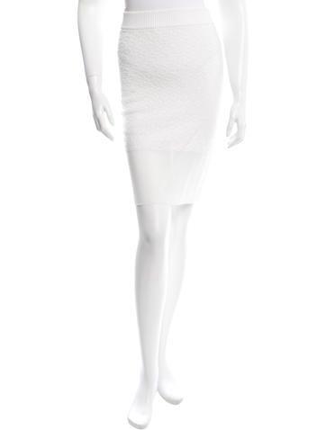 Rag & Bone Sheer-Paneled Knit Skirt w/ Tags None