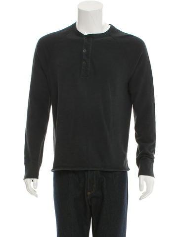 Rag & Bone Pullover Henley Sweater None
