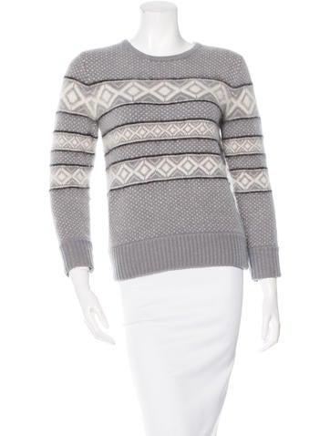 Rag & Bone Striped Three-Quarter Sleeve Sweater None