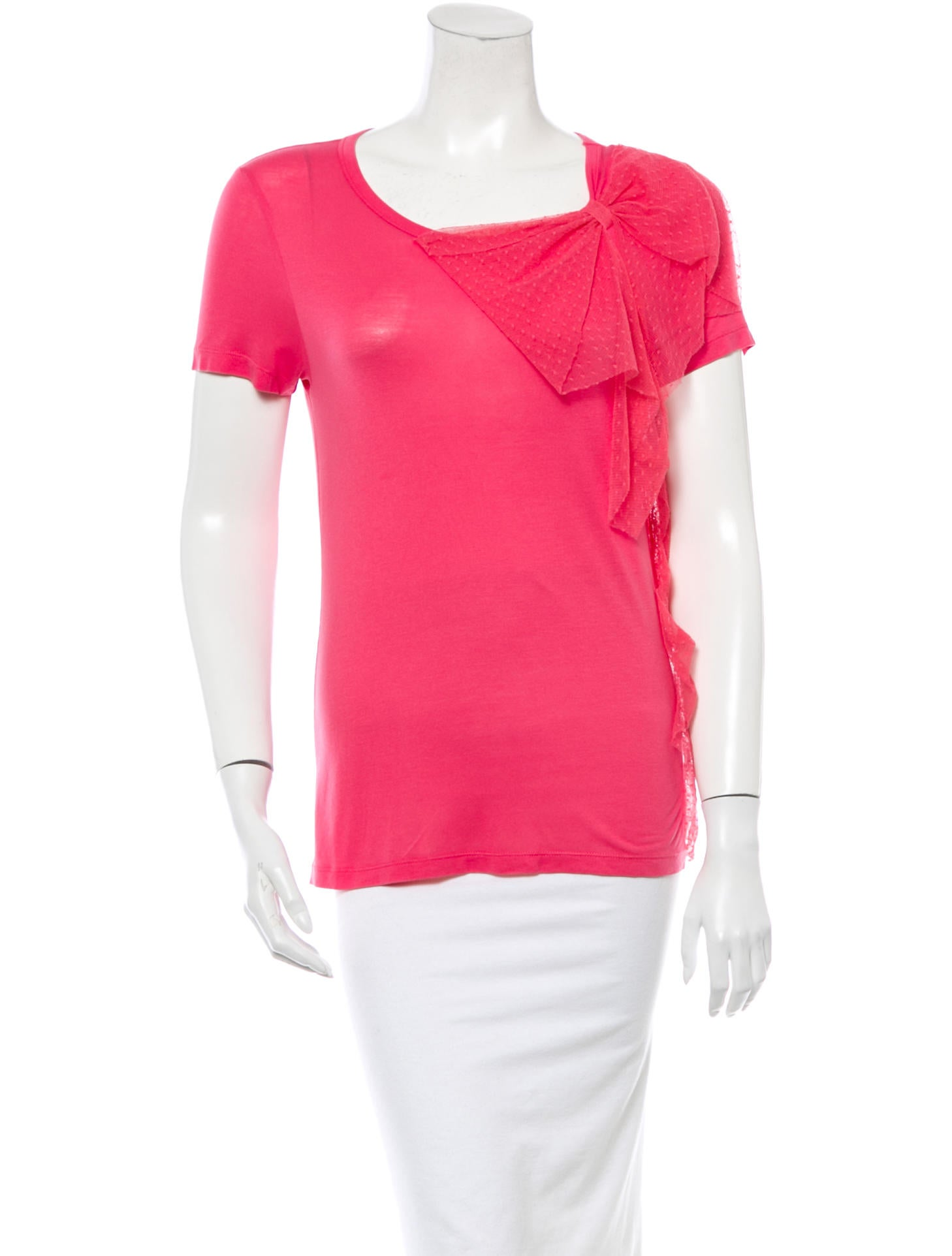Red valentino t shirt tops wre23244 the realreal for Red valentino t shirt