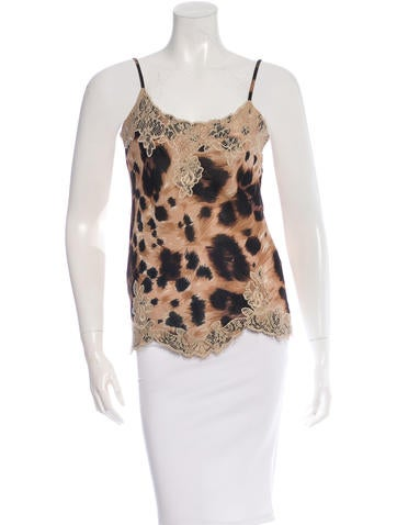 Red Valentino Leopard Lace Camisole None