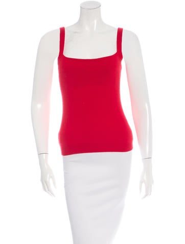 Red Valentino Sleeveless Cashmere Top None
