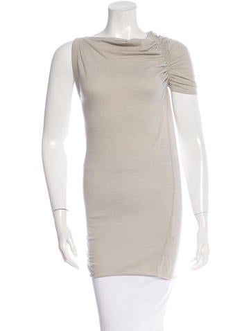 Rick Owens Lilies One-Shoulder Knit Top None