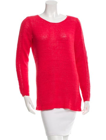 Rachel Zoe Scoop Neck Sweater None