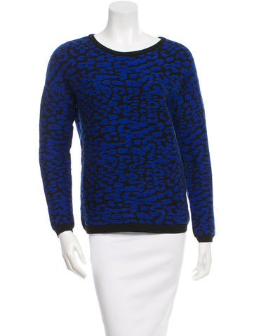 Rebecca Minkoff Patterned Knit Sweater None
