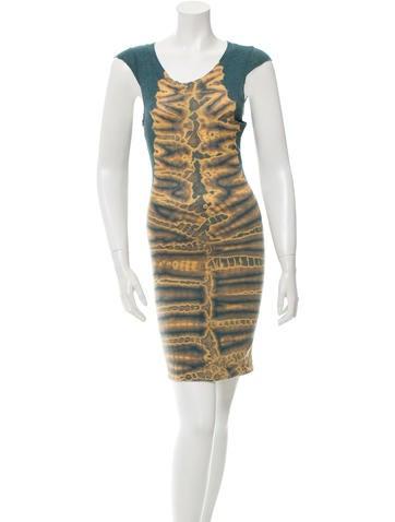 Raquel Allegra Tie-Dye Sleeveless Dress None