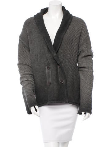Raquel Allegra Shawl Lapel Ombre Cardigan None