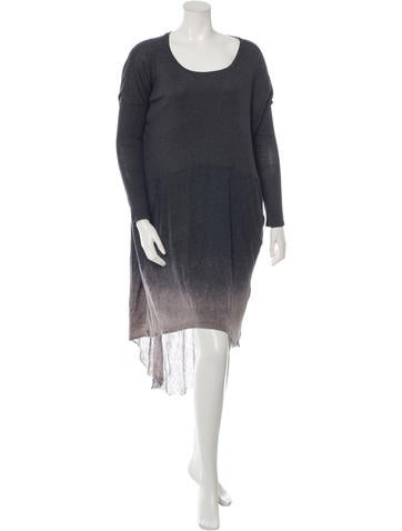 Raquel Allegra Ribbed Dip Dye Dress None