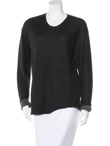 Raquel Allegra Rib-Knit Long Sleeve Top None