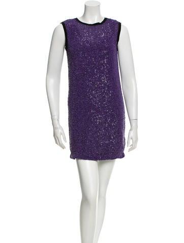 Robert Rodriguez Sequin Embellished Sleeveless Dress None