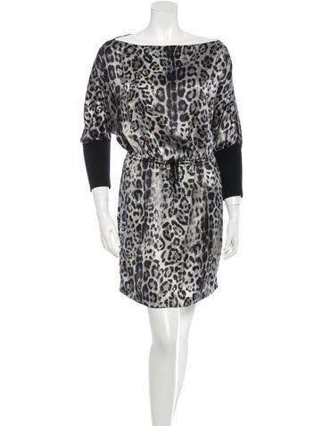 Robert Rodriguez Silk Leopard Print Dress None