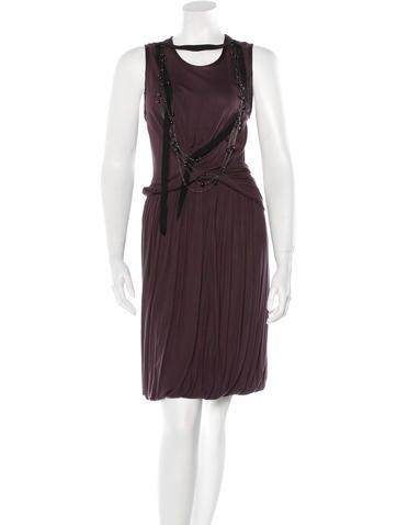 Robert Rodriguez Embellished Rib Knit Dress None