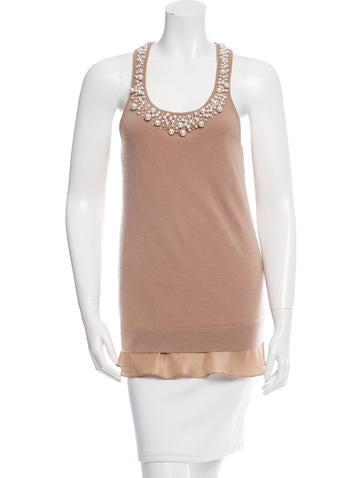 Robert Rodriguez Cashmere Embellished Top None