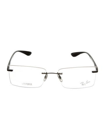 Ray-Ban Logo-Embellished Rimless Eyeglasses - Accessories ...