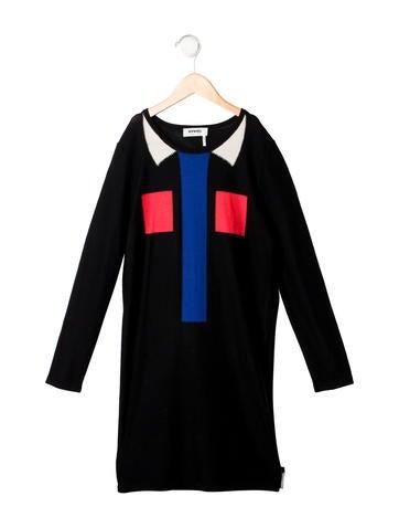 Rykiel Enfant Girls' Wool Rib Knit Dress None