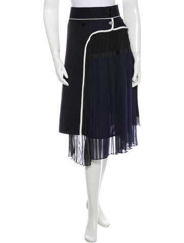 Excellent Prada Velvet OverlayAccented Skirt  Clothing  PRA142566