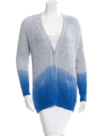Sandro Ombré V-Neck Cardigan None