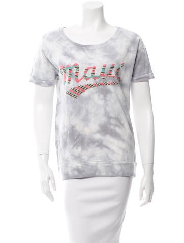 Maison Scotch Tie Dye Embellished Top None