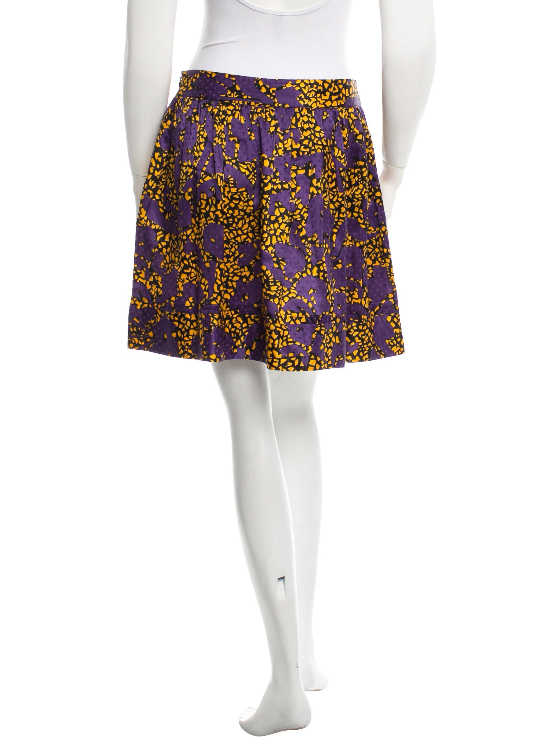 see by chlo 233 printed a line skirt clothing wse24080