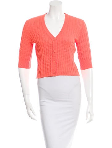 See by Chloé Rib Knit Cropped Cardigan None